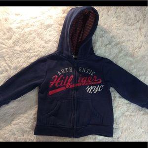Authentic Hilfiger NYC Full Zip Hood Sweatshirt